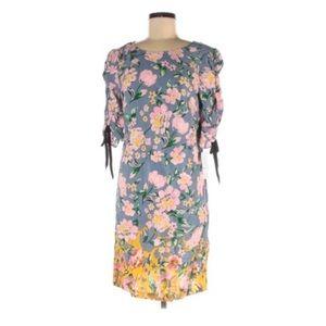 NWT Donna Morgan Gray Floral Print Size 8 Dress